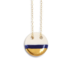 circle necklace in royal blue - ASH Jewelry Studio - 2
