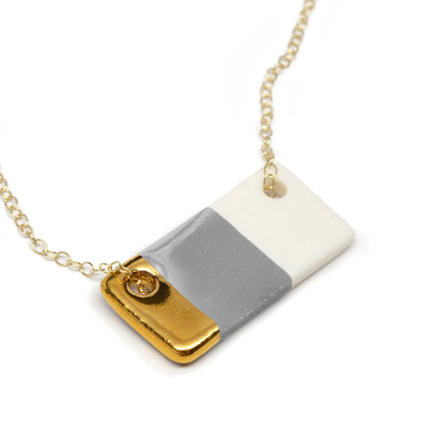 gray bar necklace