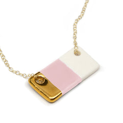blush pink bar necklace - ASH Jewelry Studio - 2
