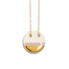 circle necklace in blush pink - ASH Jewelry Studio - 2