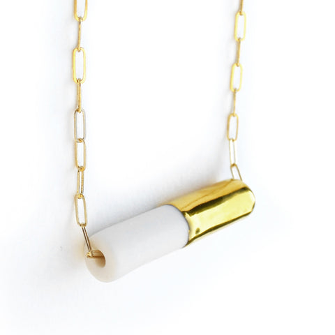 pipeline necklace on long chain