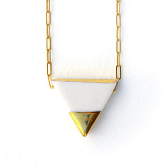 triad necklace on long chain - ASH Jewelry Studio