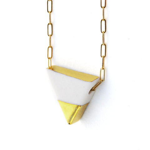 triad necklace on long chain
