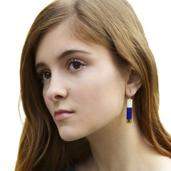 bar earrings in royal blue - ASH Jewelry Studio - 4