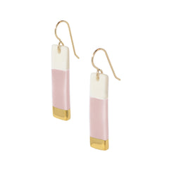 bar earrings in pink - ASH Jewelry Studio - 2