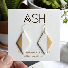 diamond dangle earrings - ASH Jewelry Studio - 2