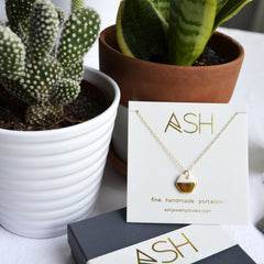 tiny gold hexagon necklace - ASH Jewelry Studio - 2