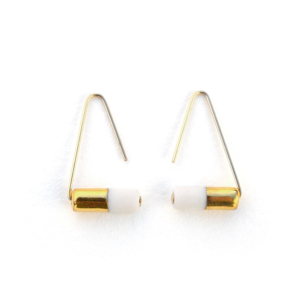 triangle pipeline earrings - ASH Jewelry Studio