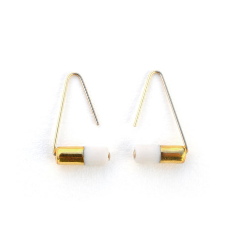 triangle pipeline earrings