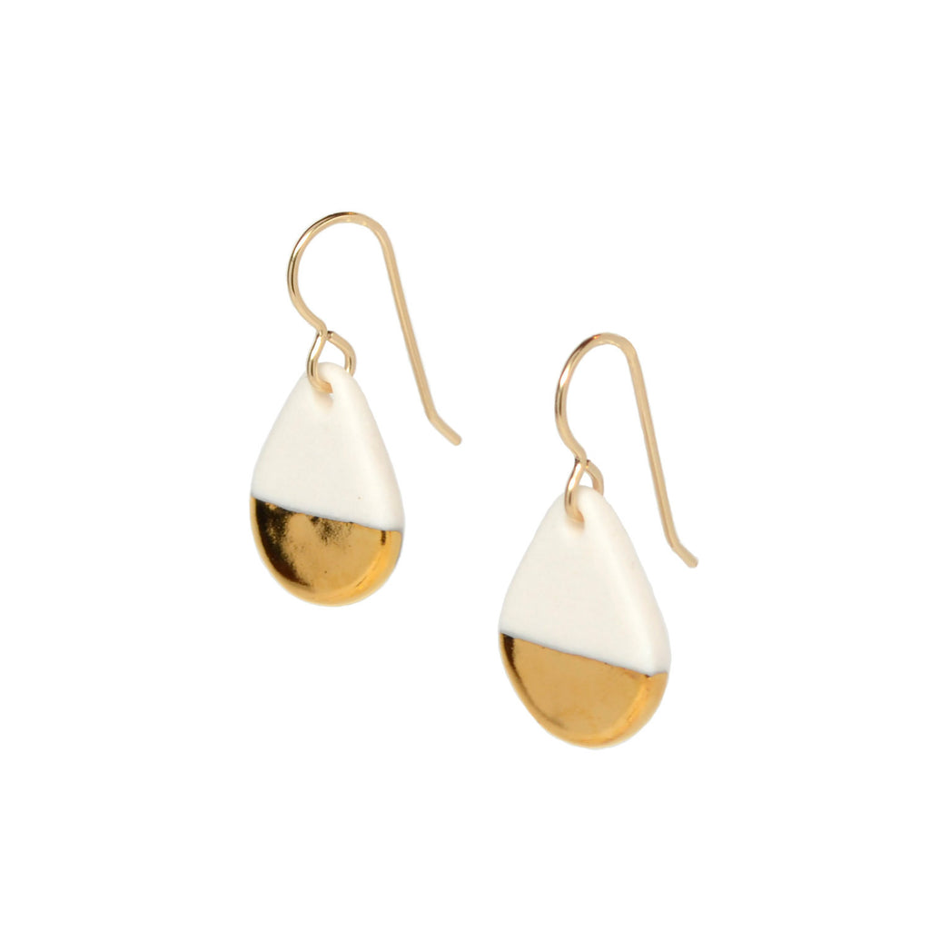 gold drop earrings - ASH Jewelry Studio - 1