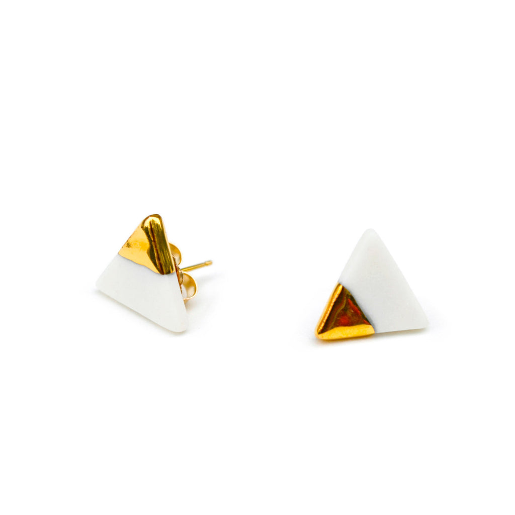 petite triangle stud earrings - ASH Jewelry Studio - 1