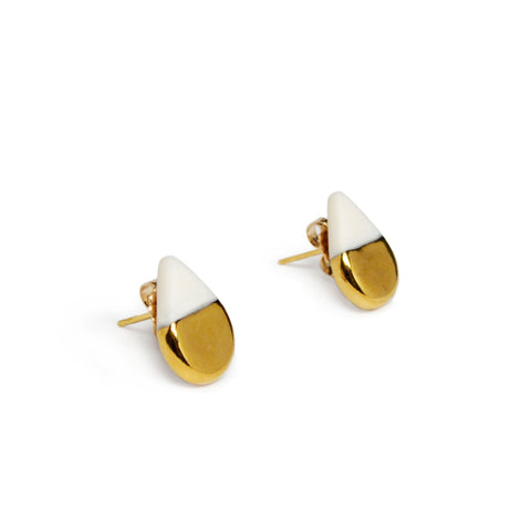 tiny drop stud earrings