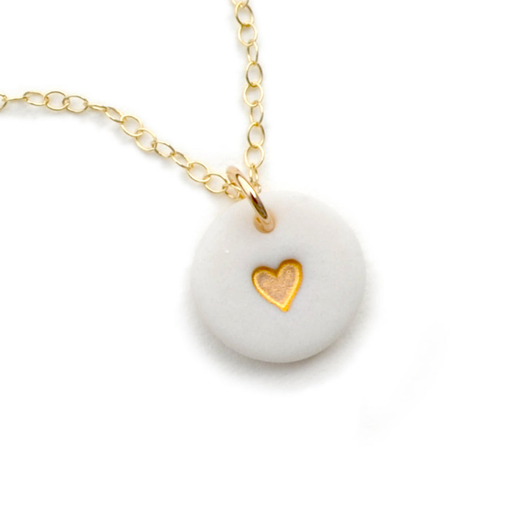 tiny gold heart necklace - ASH Jewelry Studio - 1
