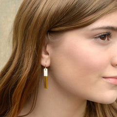 skinny gold bar earrings - ASH Jewelry Studio - 5