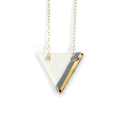 gray triangle necklace - ASH Jewelry Studio - 1