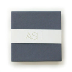 petite hexagon studs in gray - ASH Jewelry Studio - 4