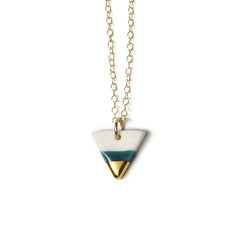 tiny triangle necklace in teal - ASH Jewelry Studio - 1
