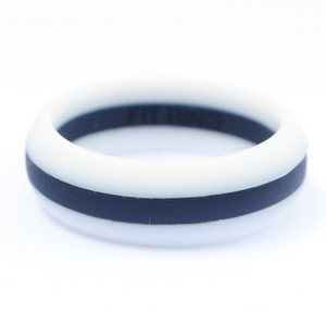 Women's Fit Ring ™<br />White & Black Line