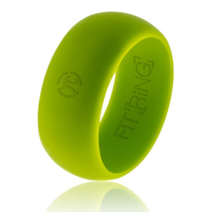 Men's Silicone Wedding Band - Borealis Green - Official Silicone Ring for Athletes