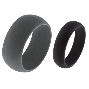 Men's Storm Gray & Women's Space Black Fit Ring Set
