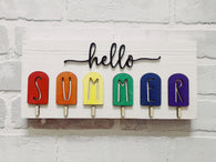 Hello Summer 3D Popsicle Sign Kit