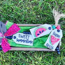 Load image into Gallery viewer, Sweet Summertime Watermelon Tag Trio