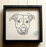 Pet Portrait Sign