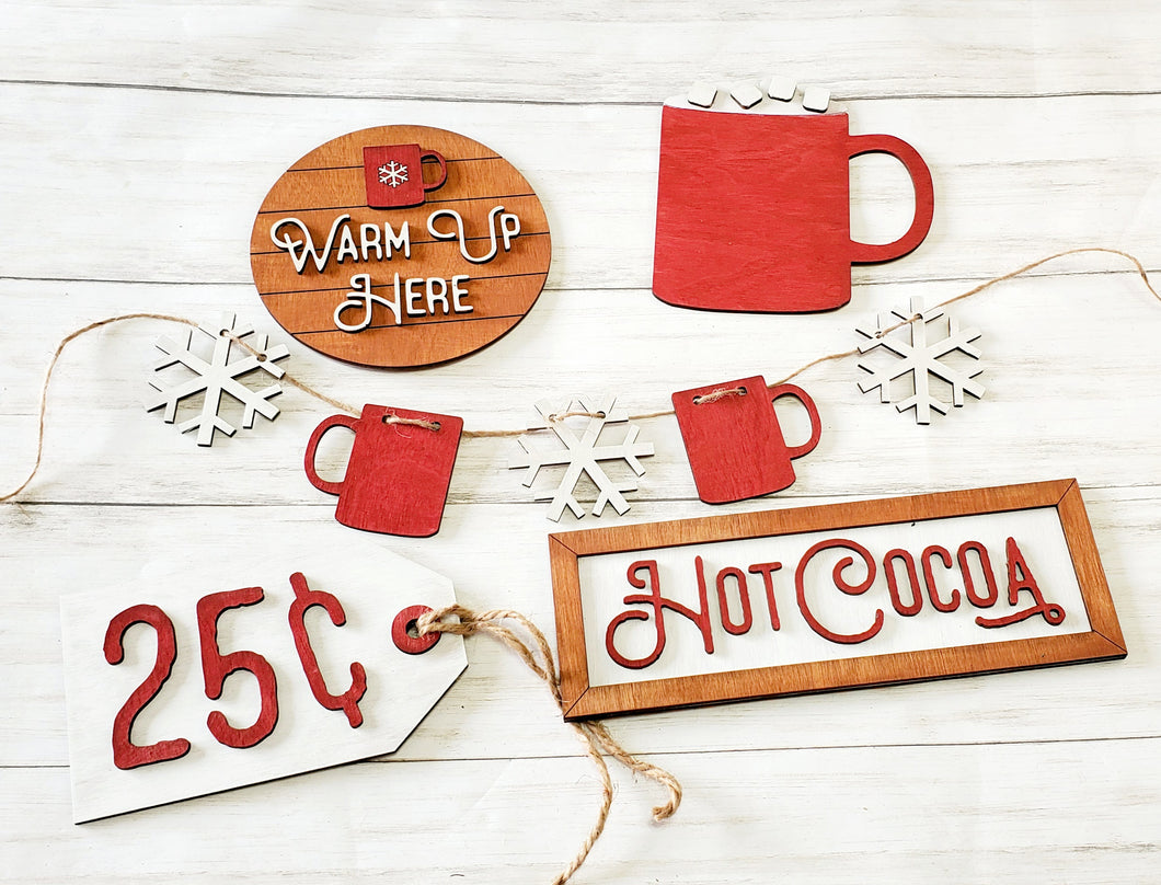 Hot Cocoa Tiered Tray DIY Kit
