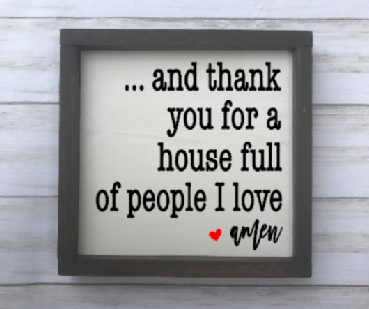And Thank You Sign