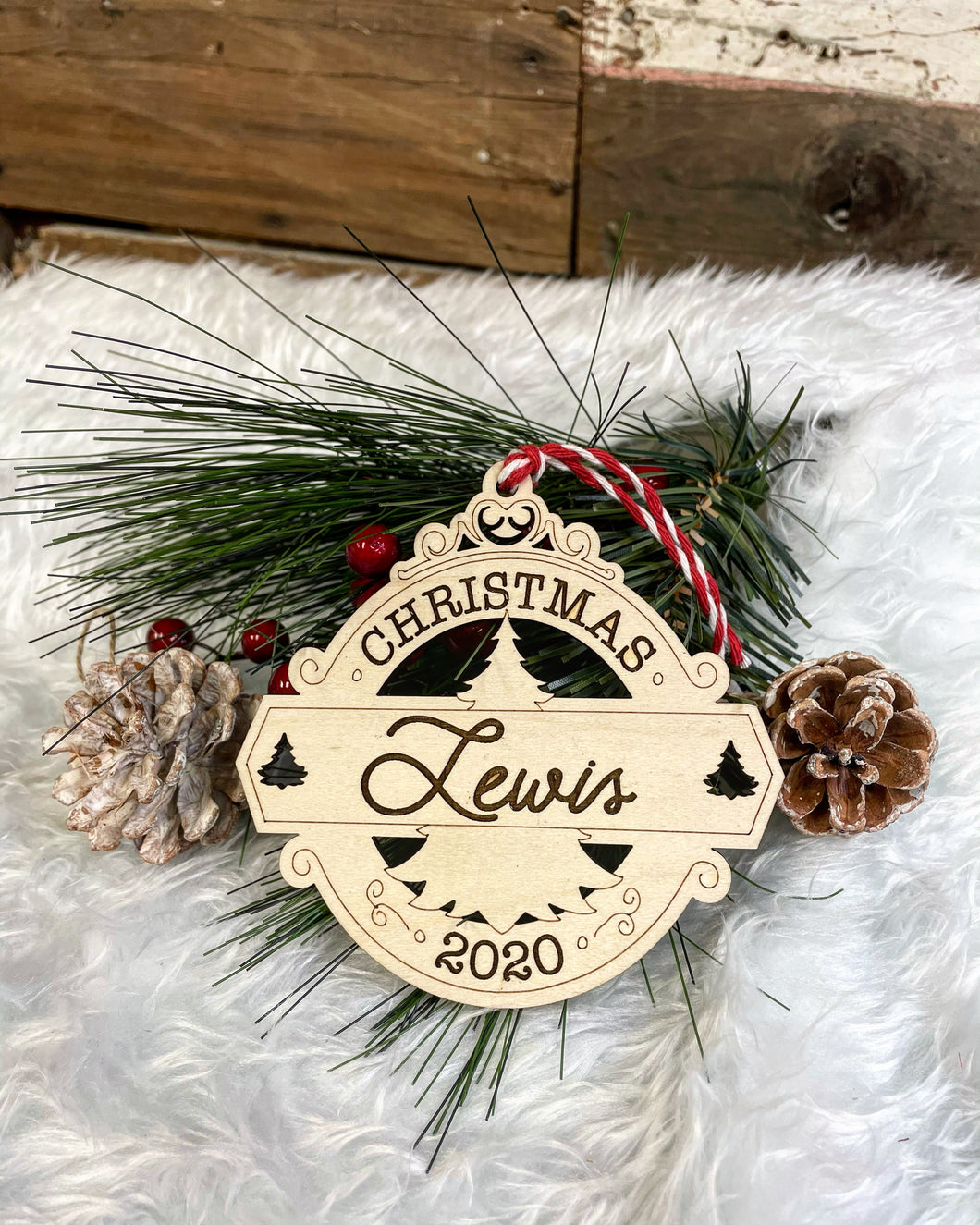 Personalized Last Name Ornament