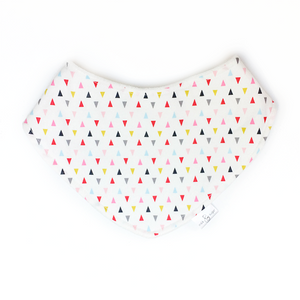 Bandana Bib - Bright Triangles