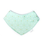 Bandana Bib - Mint Metallic Dots