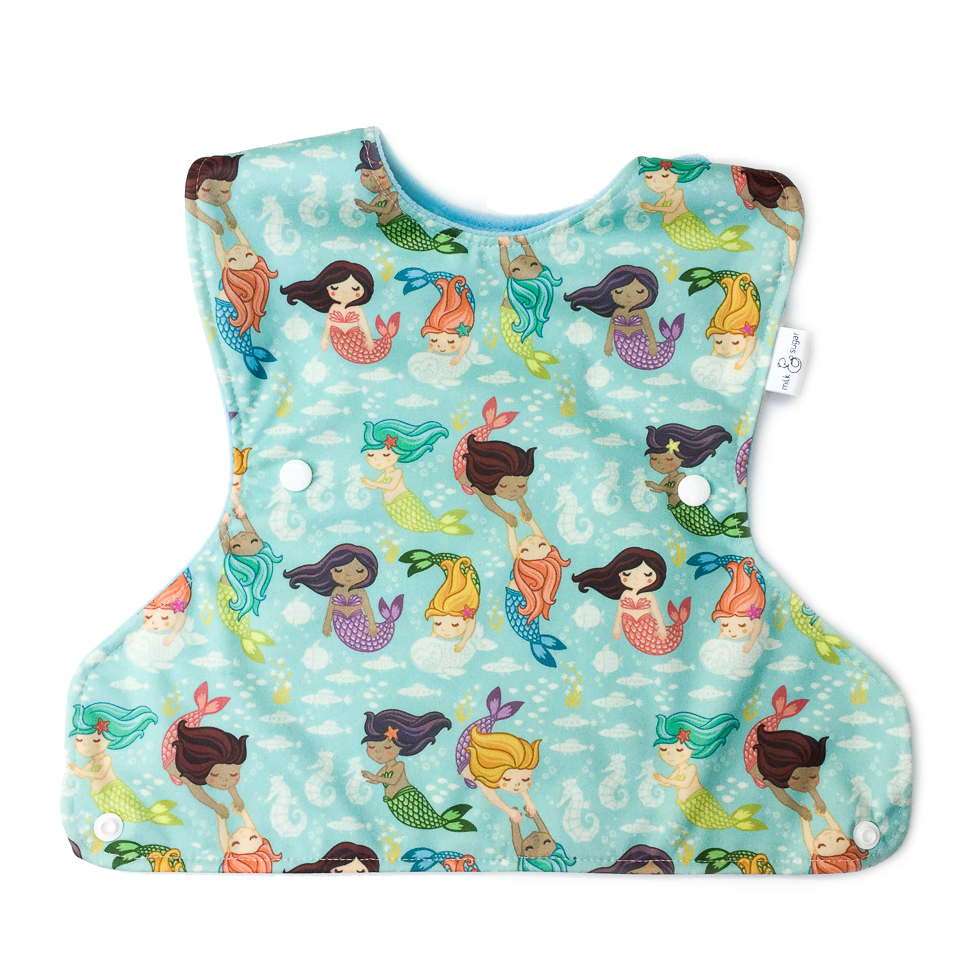 Ultimate Meal Bib - Mermaids at Play - Milk & Sugar - Toddler Pocket Bib