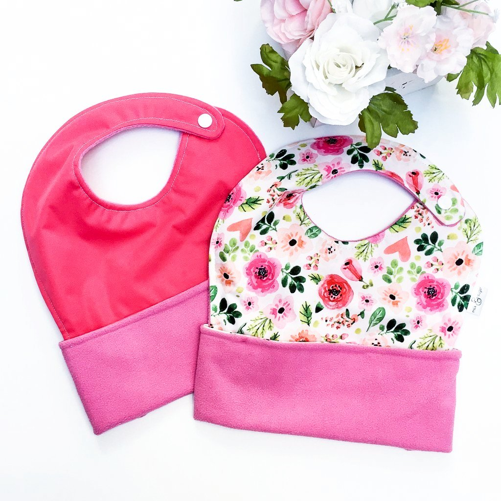 The Ultimate Meal Bibs | Spring Flowers & Petal Pink (2 Pack)