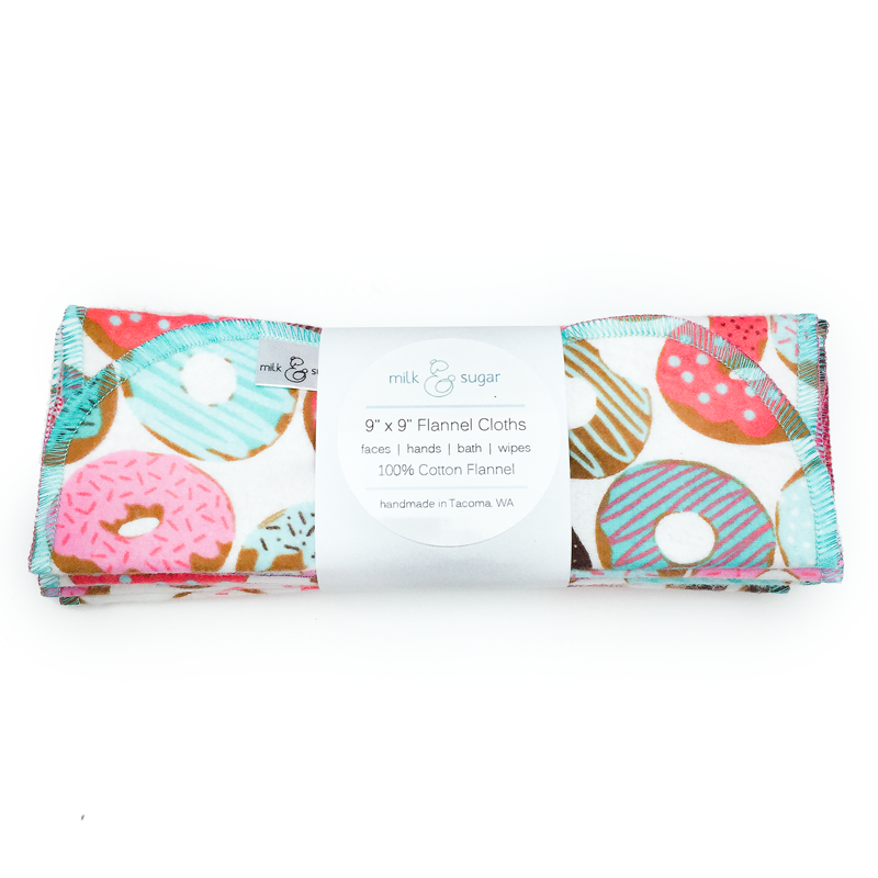 Flannel Cloth Wipes - 8 pack