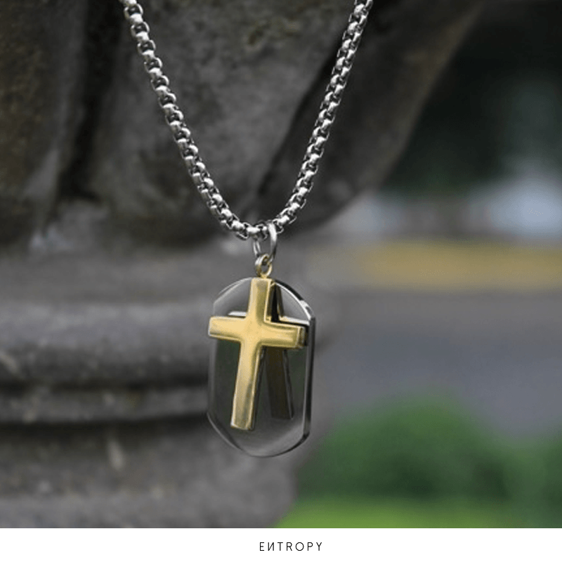 1d1cb417c968 ... Collar para hombre Blessed by God - Entropy Style ...