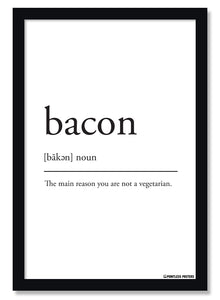 Bacon Definition Poster