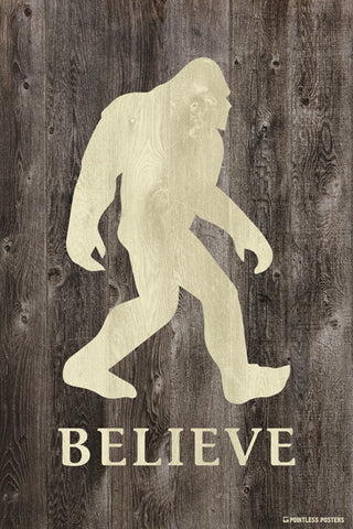 Believe In Bigfoot Poster