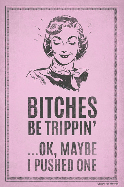 Bitches Be Trippin'ÌÎÌ_ÌÎ_Ok, Maybe I Pushed One Poster