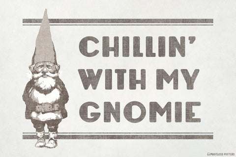 Chillin' With My Gnomie Poster