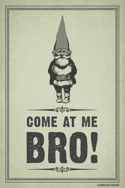 Come At Me Bro (Gnome) Poster