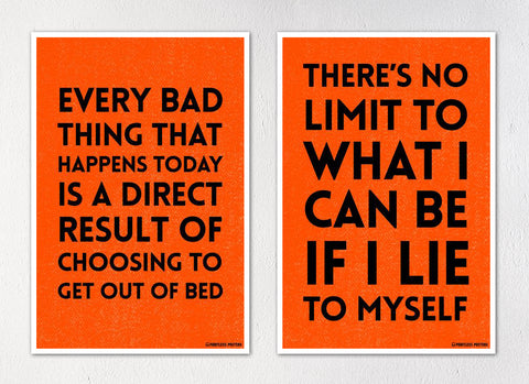 "Demotivational Quotes and Sayings Posters - Set of Two 12""x18"" Posters"