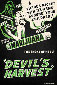 Devil's Harvest Vintage Movie Poster
