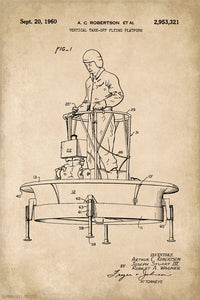 Flying Platform Patent Art Poster