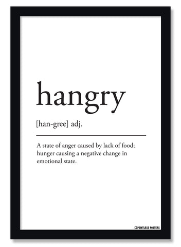 Hangry Definition Poster