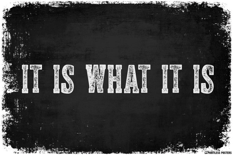 it is what it is poster pointless posters