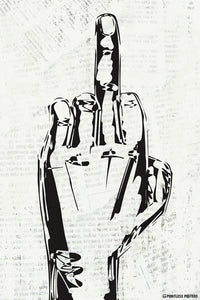 Give 'Em The Bird Middle Finger Poster