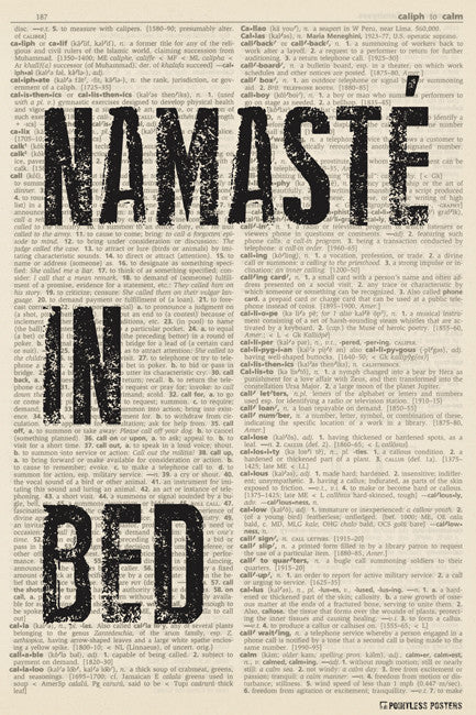 Namaste In Bed (dictionary background) Poster