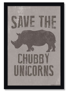 Save The Chubby Unicorns Funny Poster