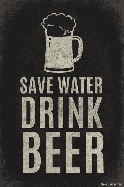 Save Water Drink Beer Poster Pointless Posters